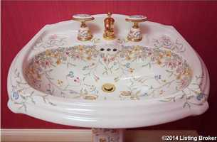 A beautiful hand painted sink.