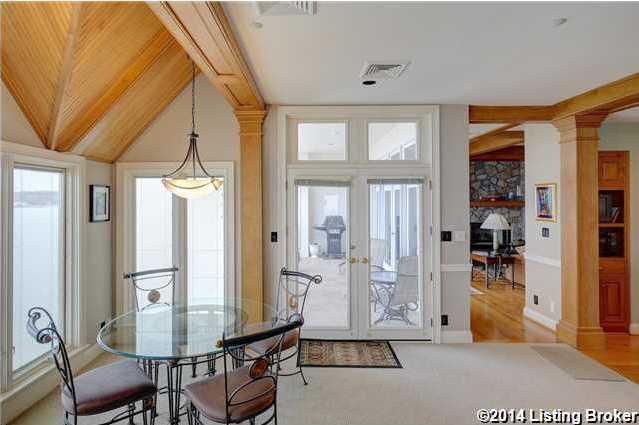 Double doors to the balcony.