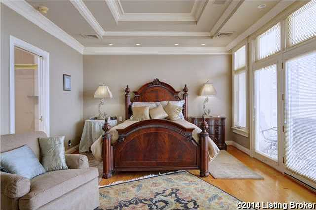 Amazing tiered, vaulted ceiling in the master suite. Not featured is the master suite's large walk-in closet.