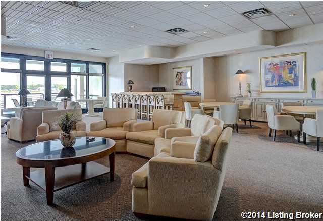 Building amenities include a fully furnished seating area along the river as well.