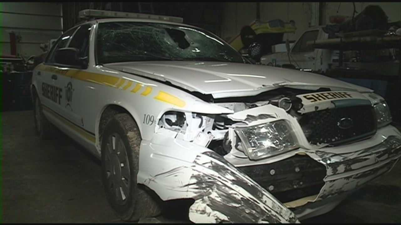 Bulletproof vest saves deputy from impalement during crash