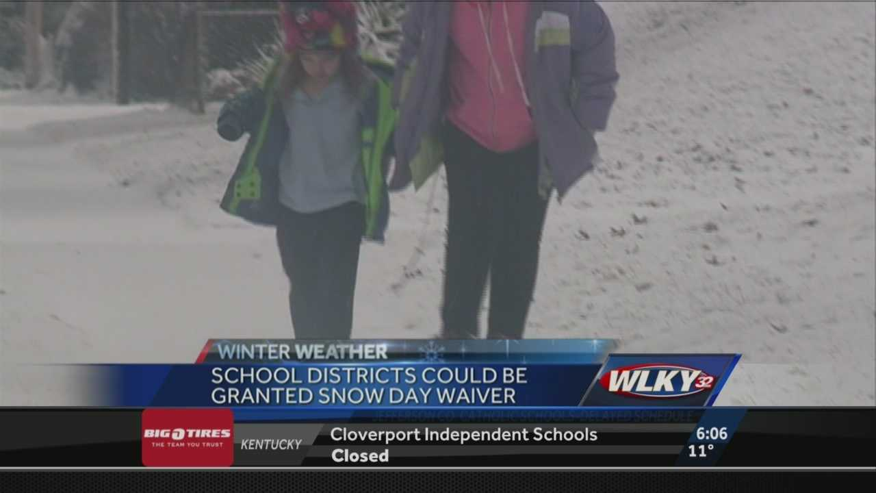 School districts could be granted snow day waivers after such a brutal winter across the area.