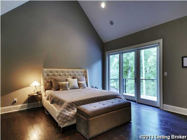 The master suite's balcony offers a beautiful, private view.
