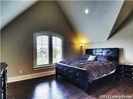 Minimalistic decor in this guest suite.