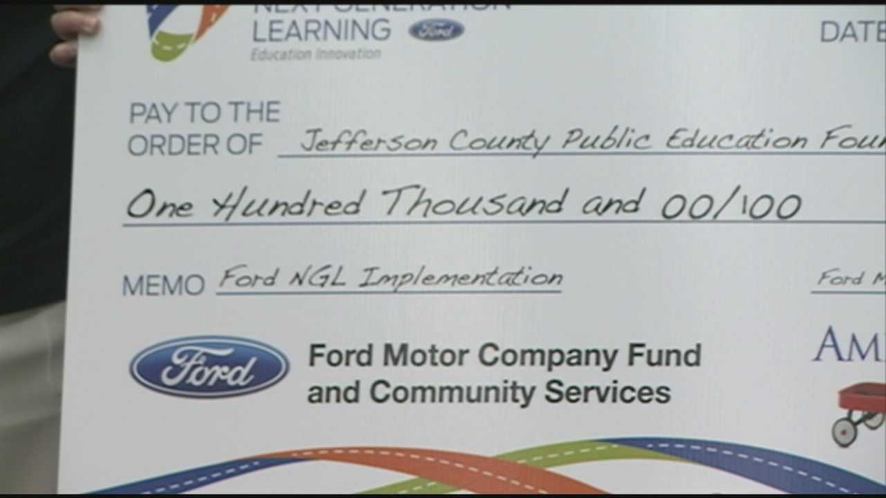 Ford makes a big announcement Tuesday morning to forge its support to transform JCPS high schools.
