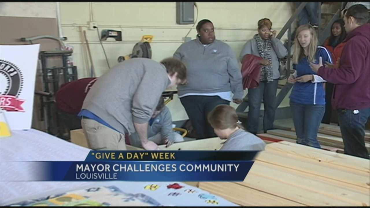 "Mayor Greg Fischer is challenging the community to ""Give A Day"" of service."