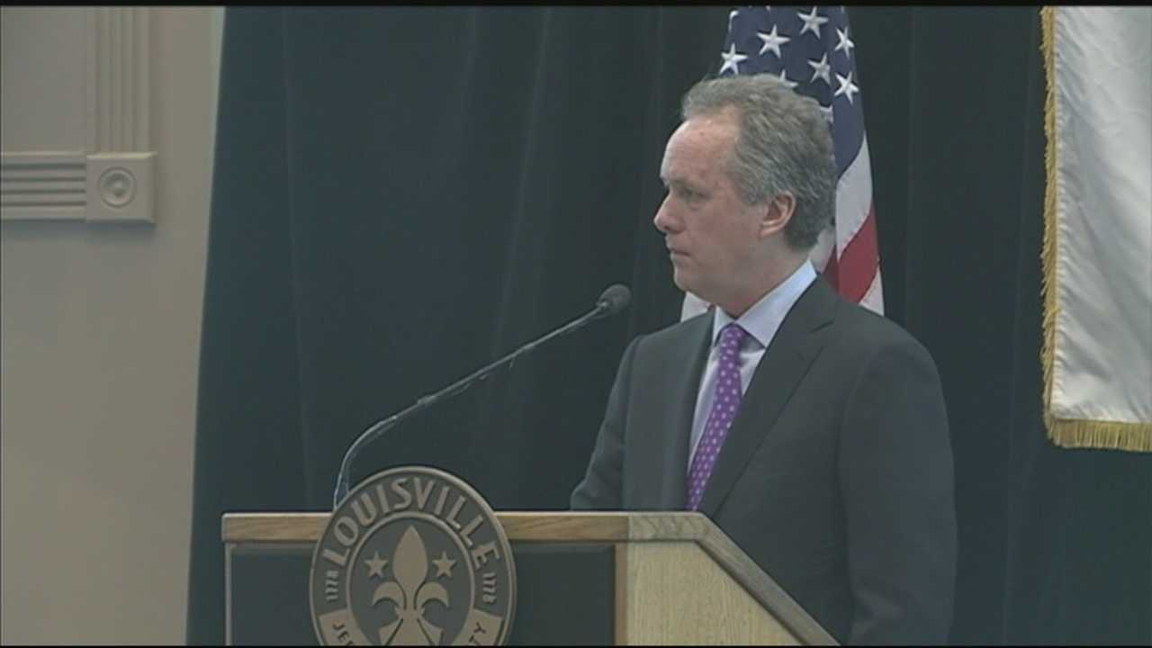 Louisville Mayor Greg Fischer testifies for local option sales tax.