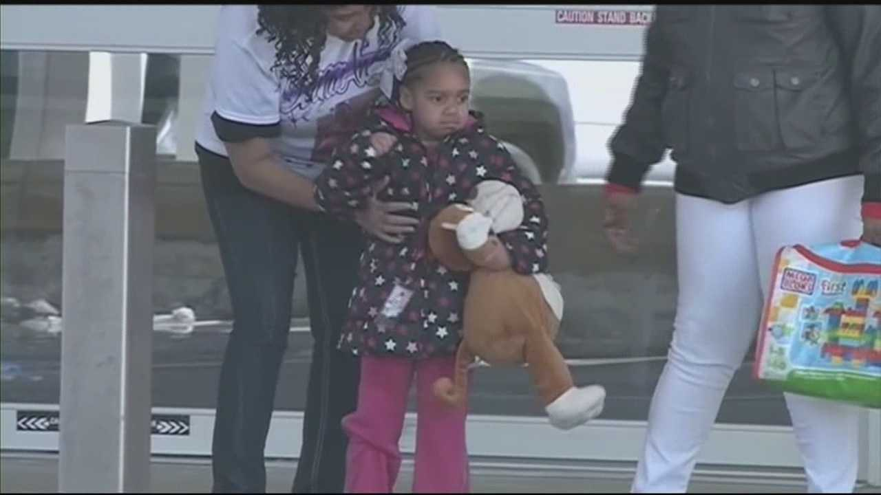 Taty'ana Hughes, the lone survivor of a New Albany house fire, was released from an Indianapolis hospital Friday afternoon nearly 2 months after the blaze that killed her three siblings.