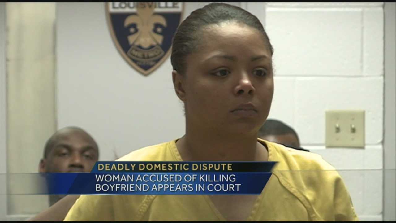 Woman accused of killing boyfriend appears in court