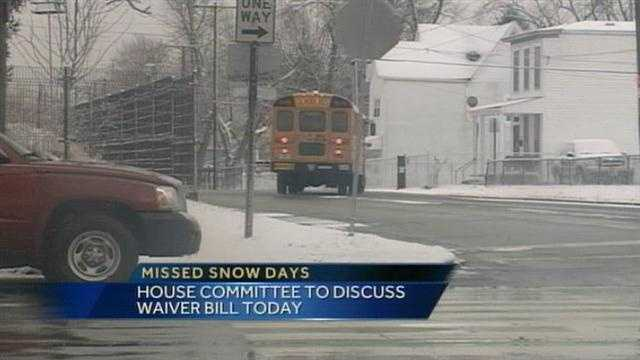 A House Committee will discuss a waiver to excuse make-up snow days