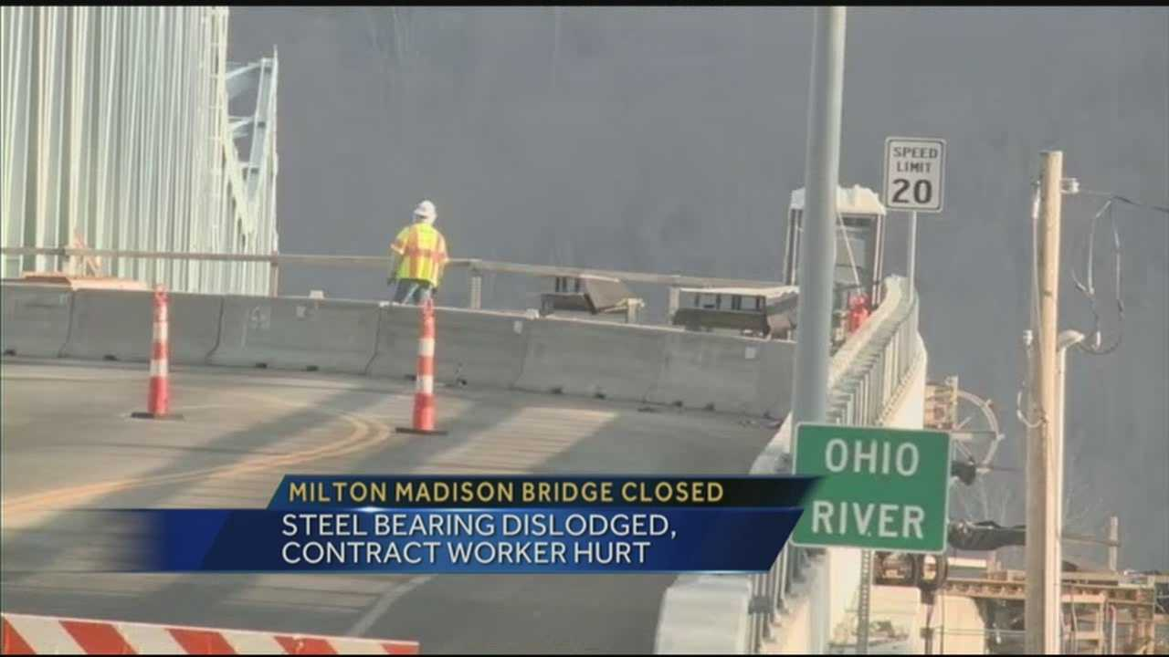 The Milton-Madison Bridge was shut down after a complication resulted in a worker being injured.