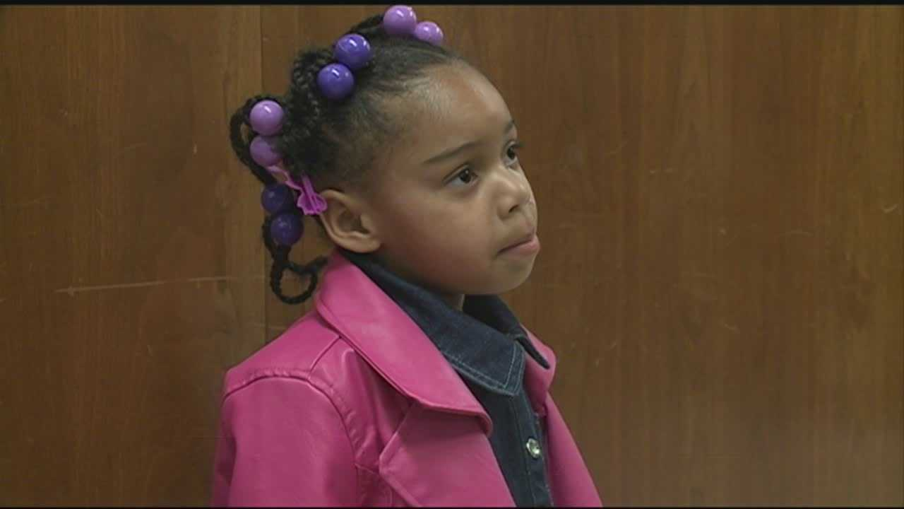The 5-year-old girl who survived a deadly house fire in New Albany was in court Tuesday to face three teenagers accused of starting the fire that killed her brother and sisters.