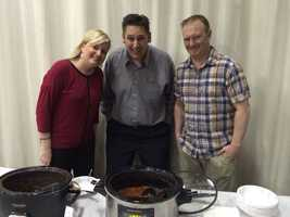 2014 WLKY Chili Cookoff winners Carla Gish, Bill Greep and Brian Clark.