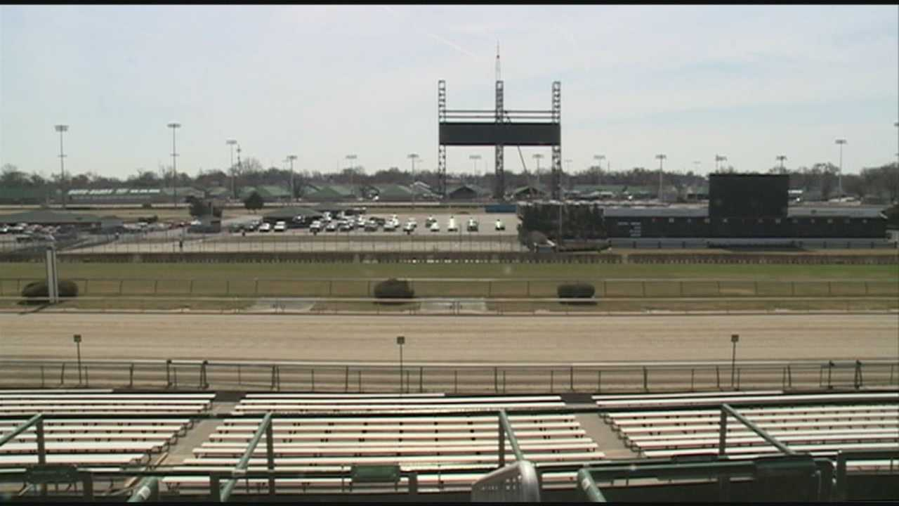 Construction underway at Churchill Downs for Kentucky Derby