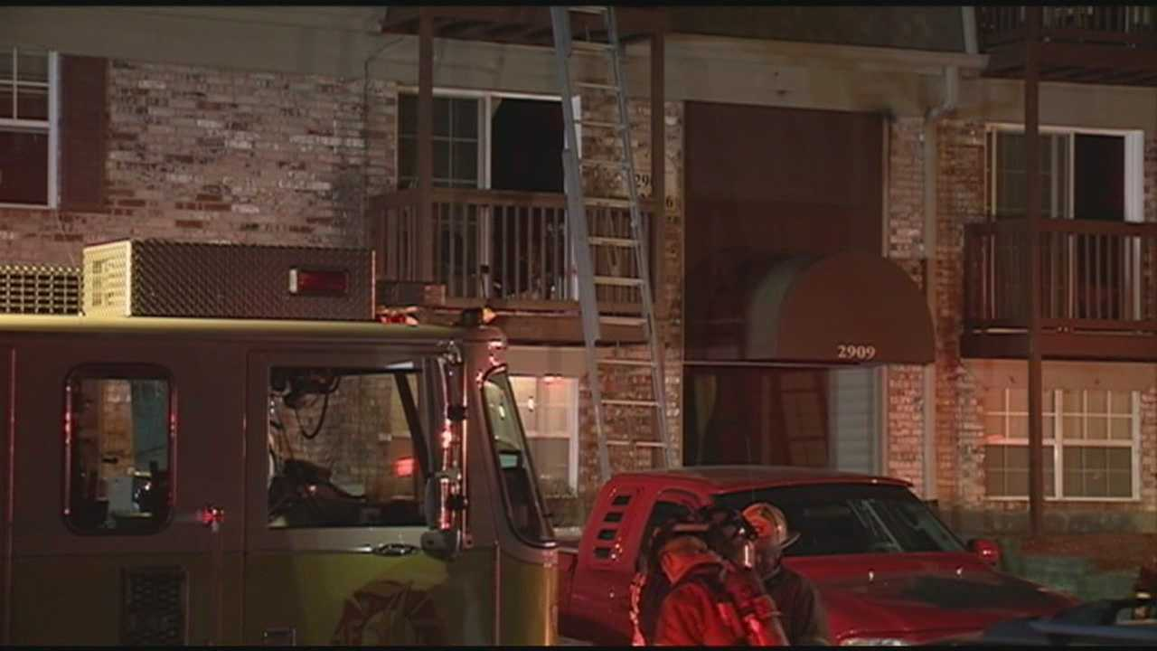 A firefighter is injured while battling an overnight apartment fire.