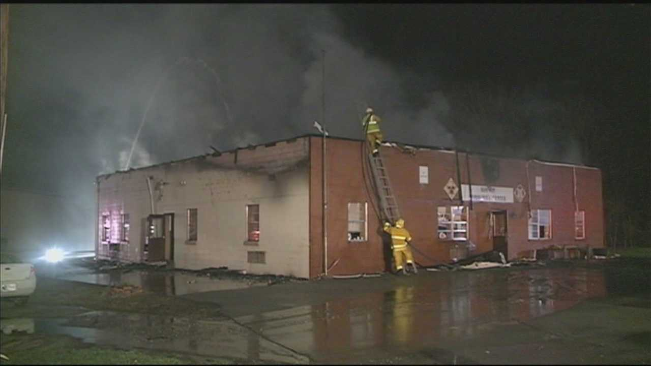 A community center in Nelson County is damaged in an overnight fire.