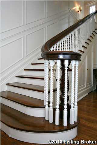 Refinished hardwood floors throughout the first floor and staircase.