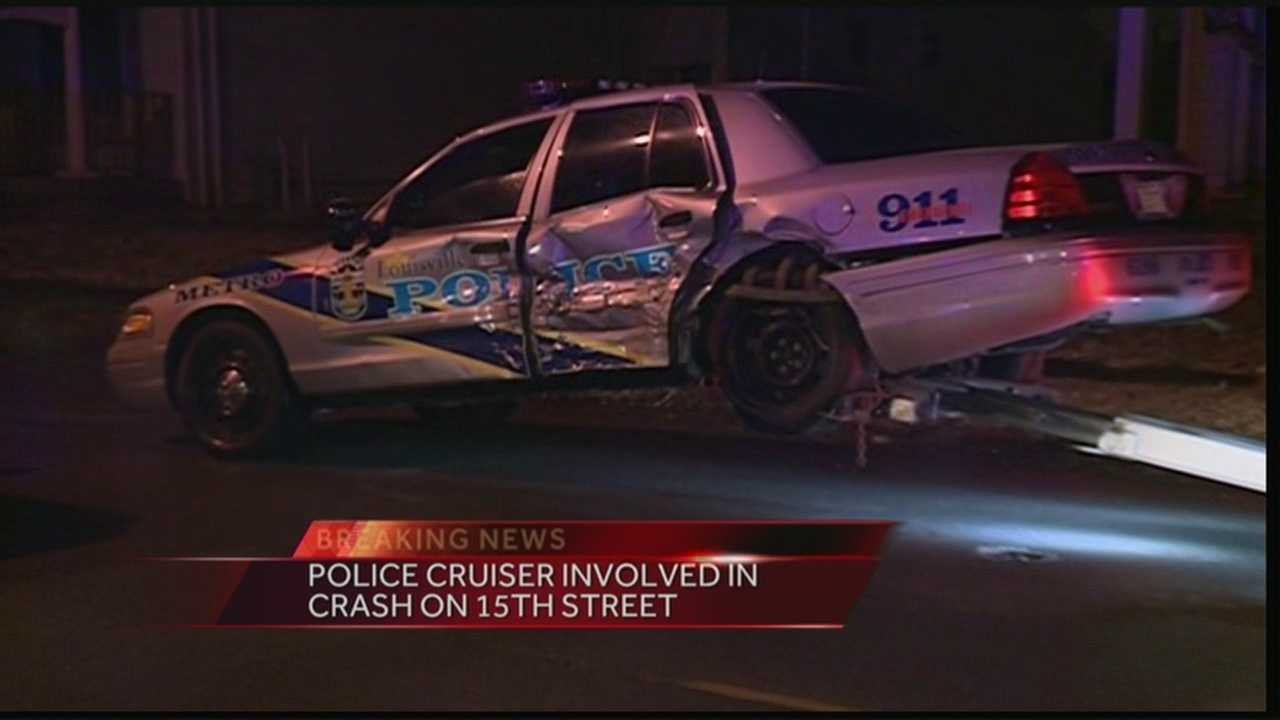A police cruiser was involved in crash on 15th Street.