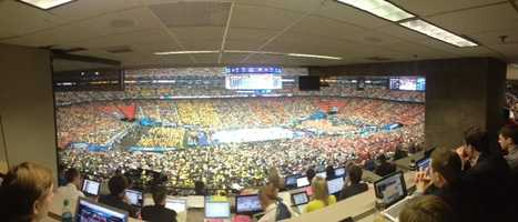 10. 2013 Final Four Louisville vs Wichita St April 6, 2013 -- 43.9% of homes in Louisville watched the game