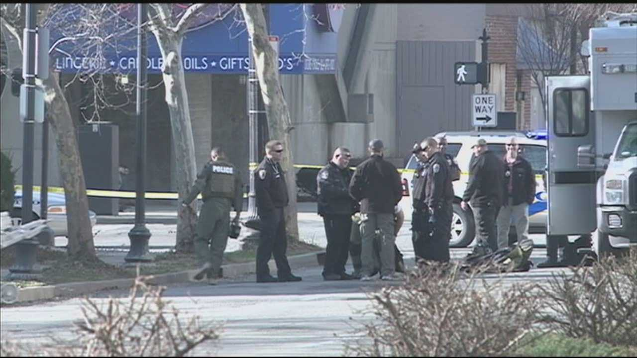 Second Street between Jefferson Street and Market Street was closed for a few hours Monday morning during an investigation into a suspicious device.