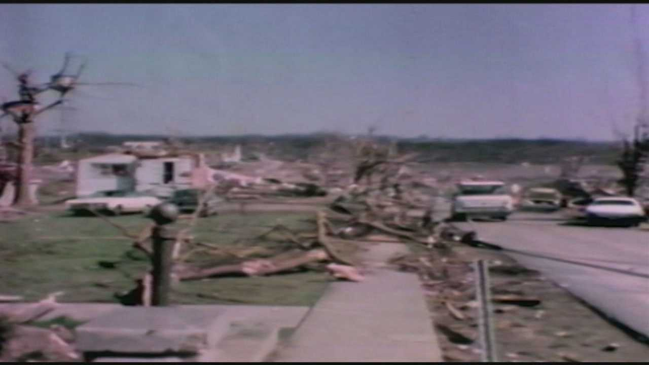 Brandenburg residents look back on the damaged from the 1974 tornado outbreak.
