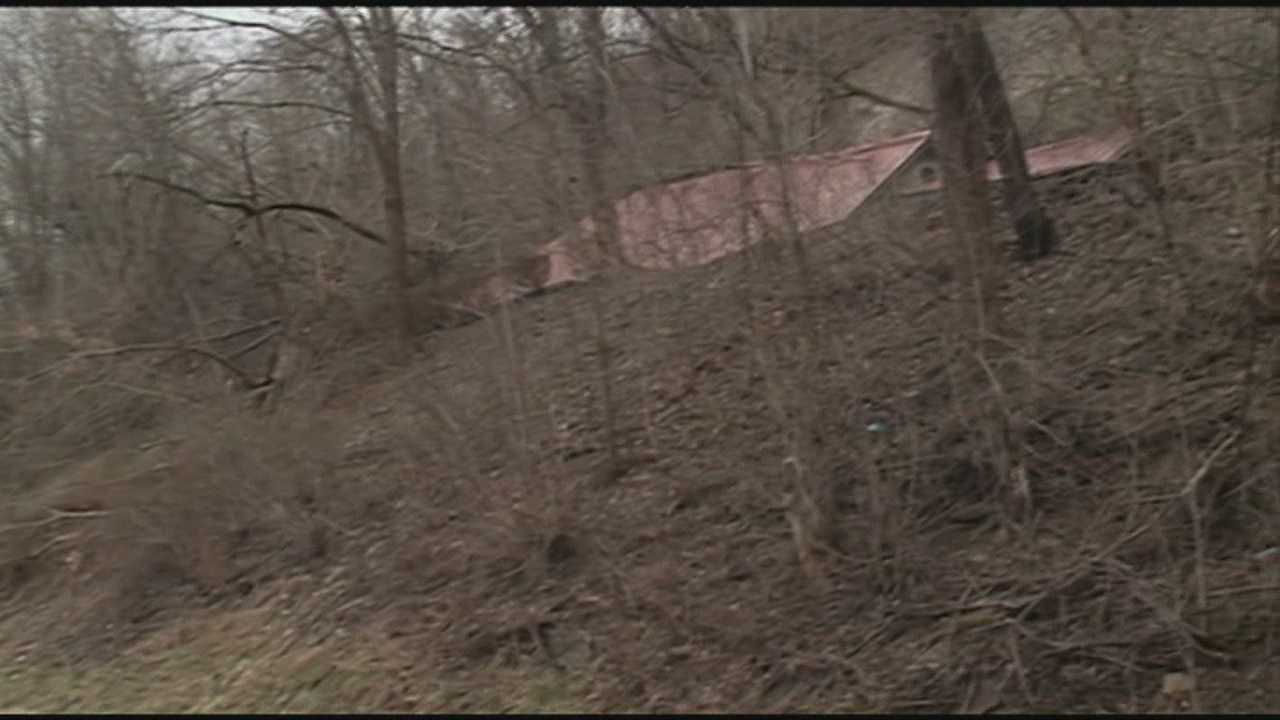 A Carroll County mudslide sent a home crashing down near Highway 36.
