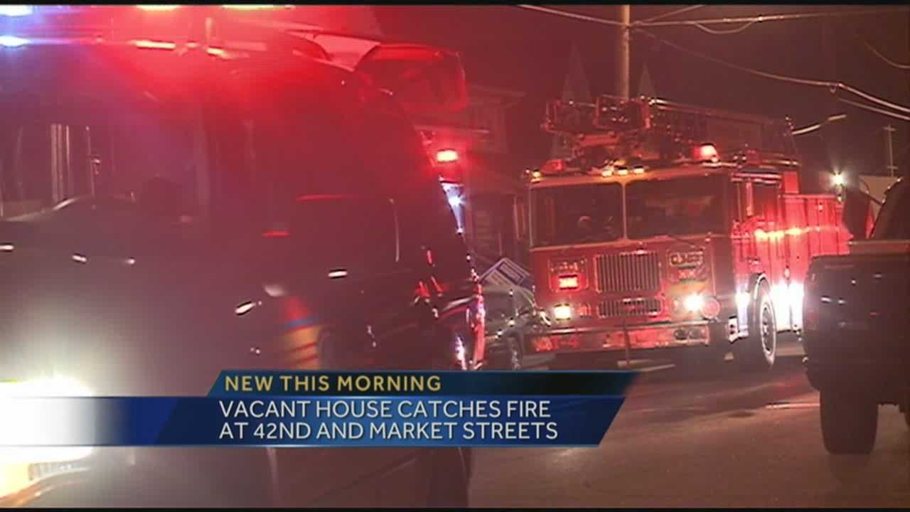 House fire 42nd Street and Market Street