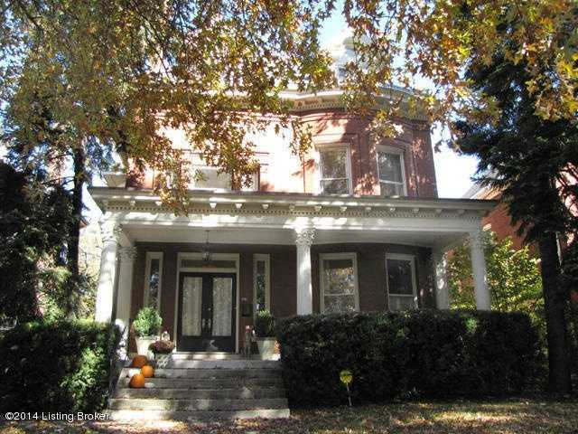 The maintained home is 5,869 sq. ft. and welcomes you with classic pillars.