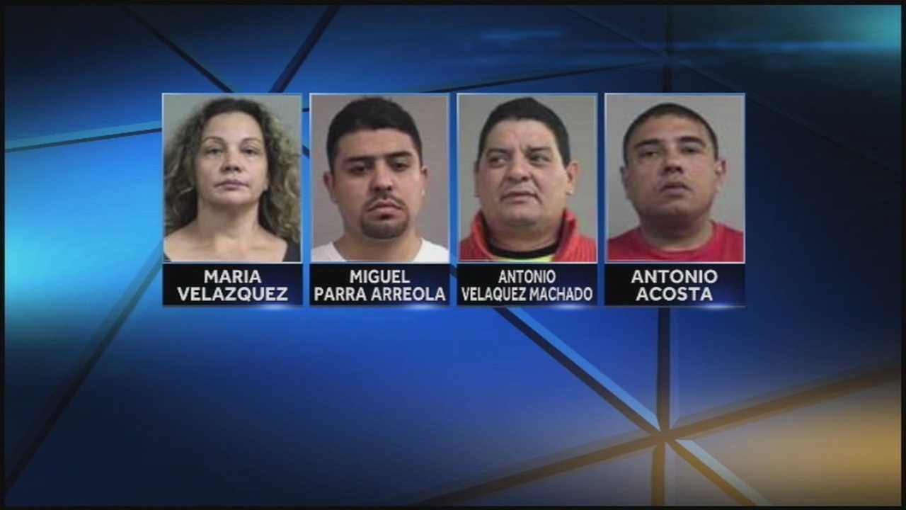 Four people have been arrested in connection with a drug and fraud investigation.