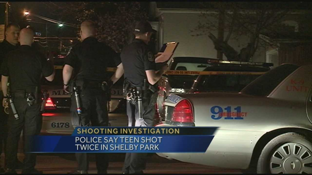 According to police, a teen was shot twice in Shelby Park