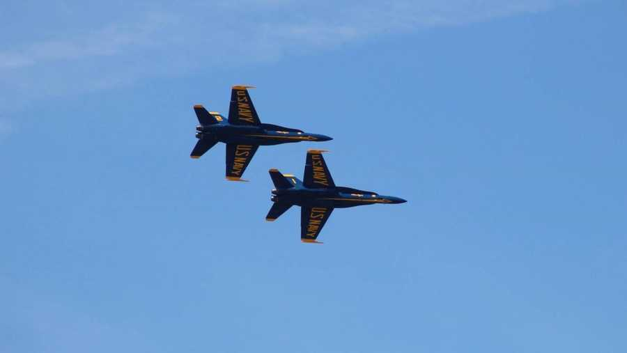 The pilots for the Blue Angels and F-22 Raptor practice ahead of Saturday's Thunder Over Louisville.Photo courtesy: Mike Stafford