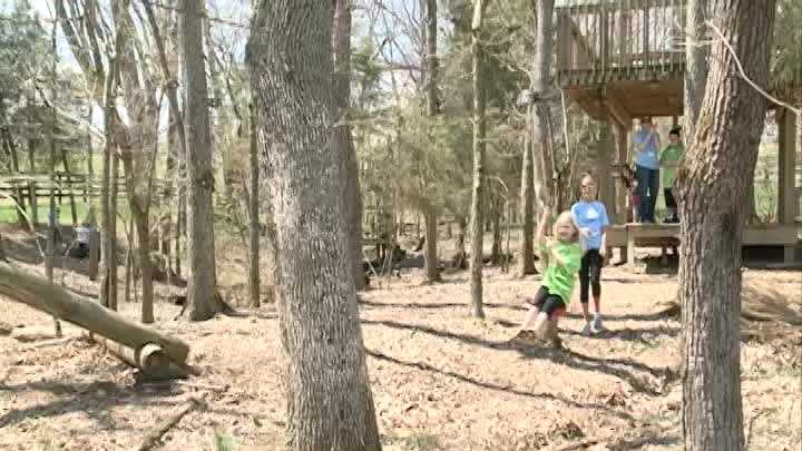 A special camp was held Saturday for children with autism.