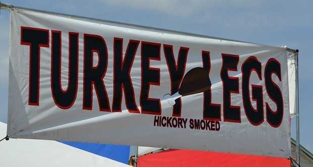 """Still hungry? Try a turkey leg. And you can continue your """"no utensil"""" streak."""