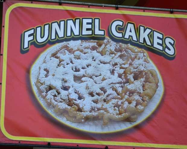 Dessert: FUNNEL CAKES. (These can be eaten after every meal in my opinion).