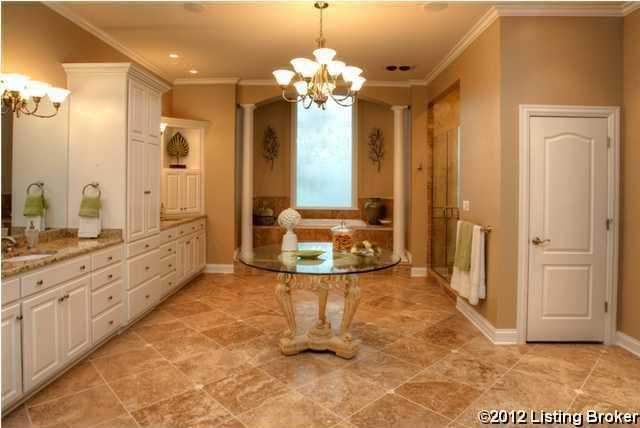 Master bathroom is very spacious and very detailed.