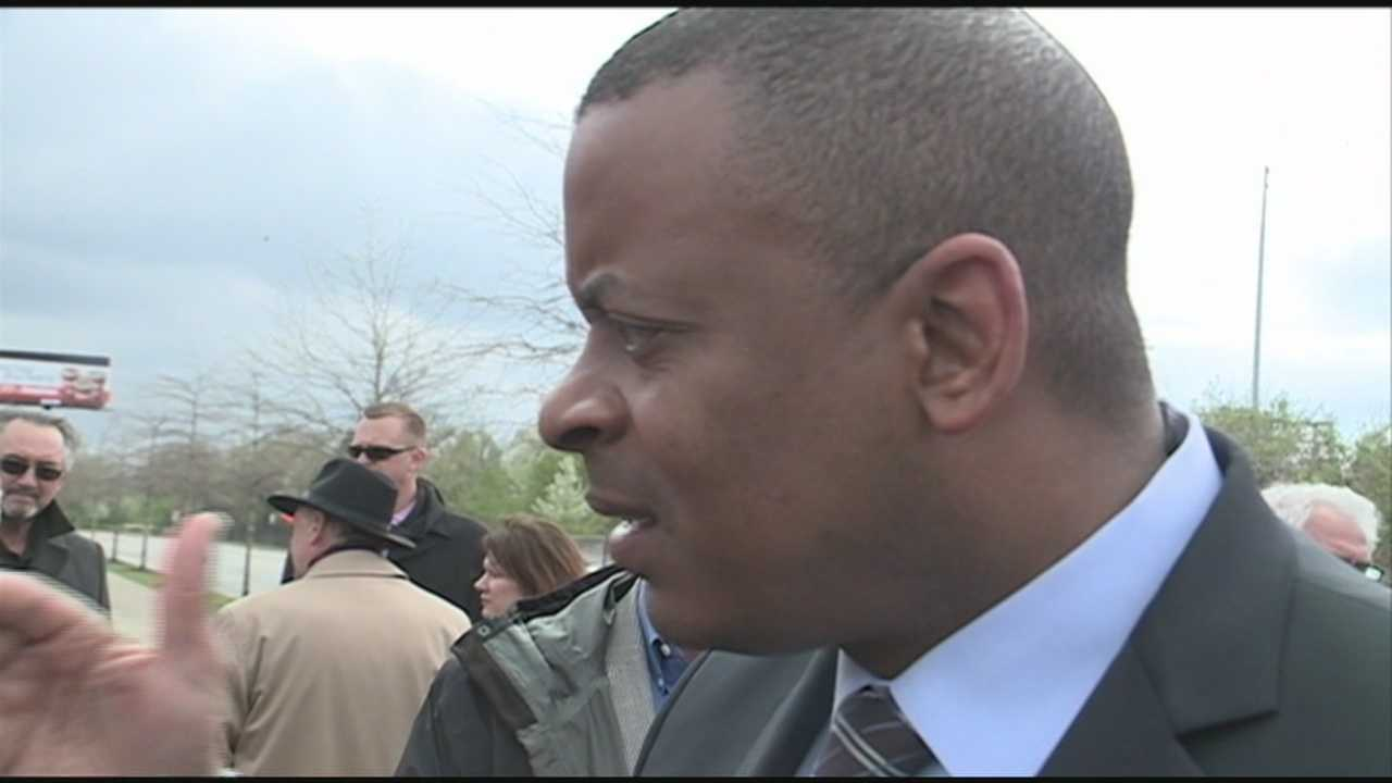 U.S. Transportation Secretary Anthony Foxx makes a visit to Louisville Tuesday morning to tour the bridge project and talked about the importance of infrastructure at a time when the nation's transportation bill is set to expire.