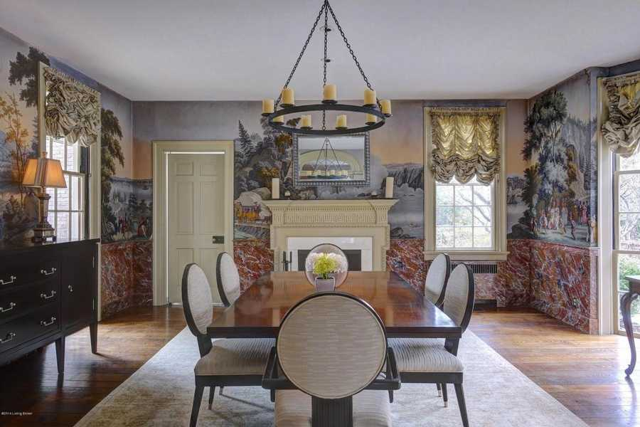 Entertain in a gorgeous formal dining room designed in 1940 by renowned Architect Frederic Morgan.