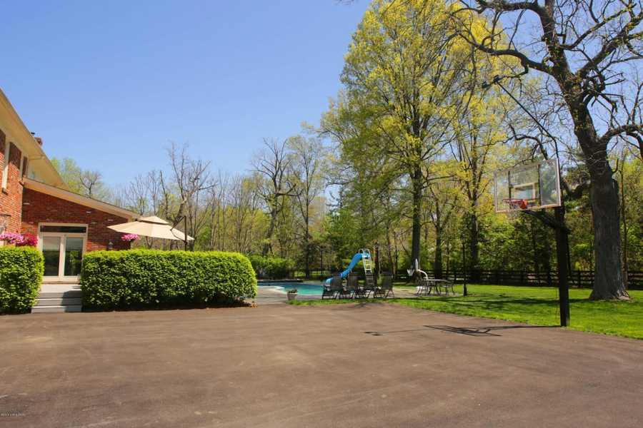 Basketball court.