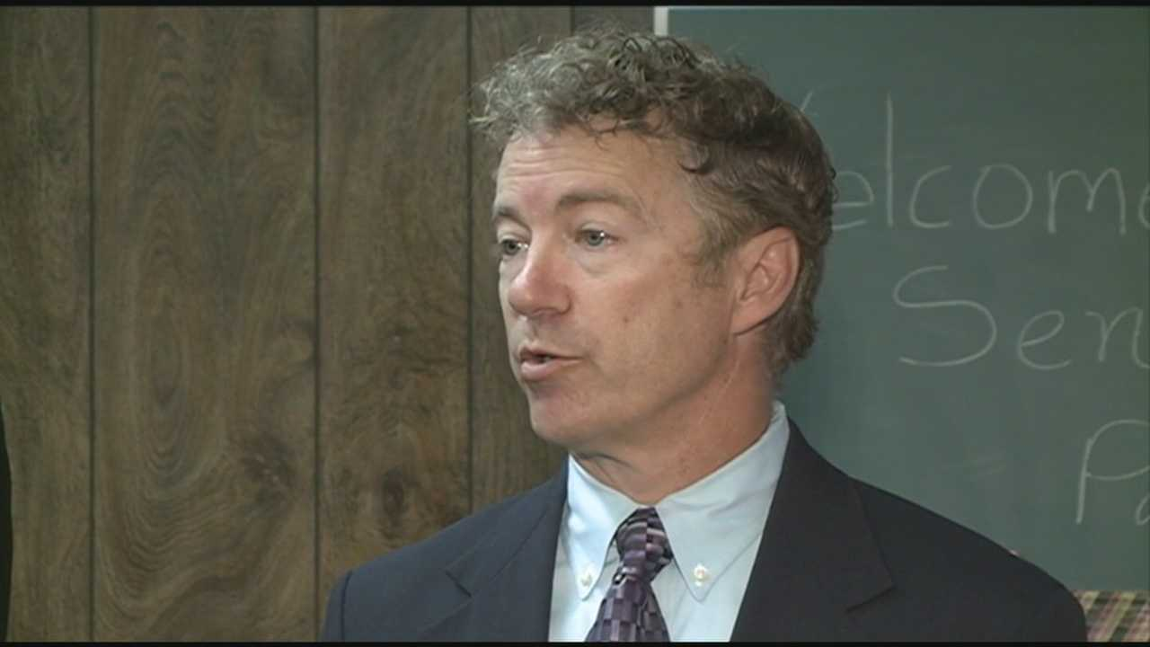 Kentucky Sen. Rand Paul visited Louisville Monday to promote economic growth in west Louisville and a new proposed bill.