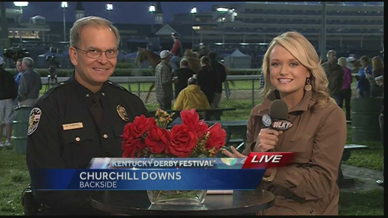 Louisville Police Chief Steve Conrad talks about security at the Kentucky Derby.