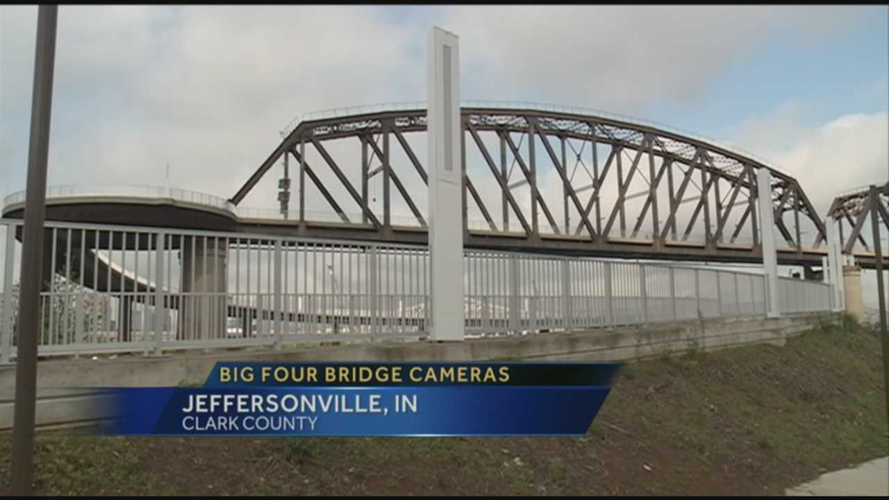 Cameras being installed on Ind. side of Big Four Bridge