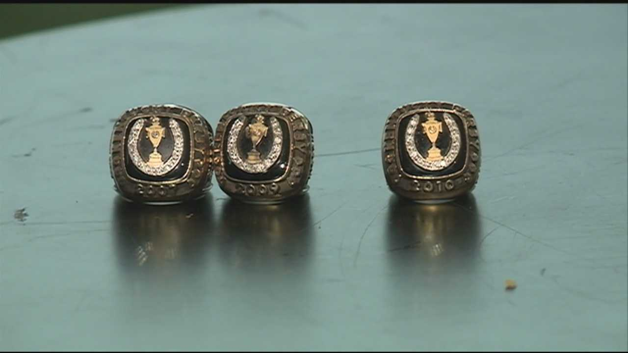 Championship rings will be presented to the owner, trainer and jockey of the winning Kentucky Derby horse.