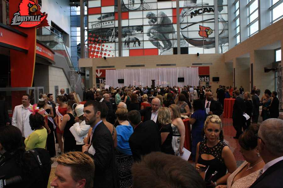 A look at the Julep Gala crowd flooding the floor of the KFC Yum! Center