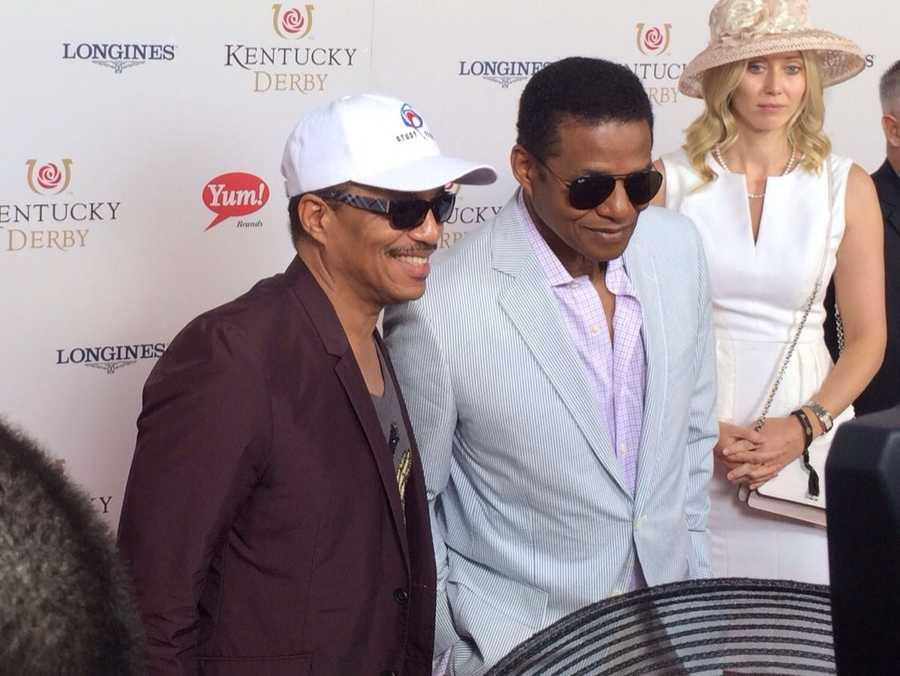 Jackie and Marlon Jackson