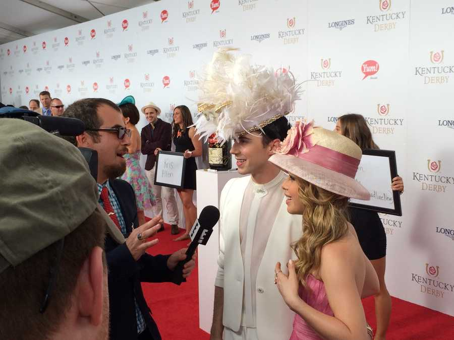 Tara Lipinski and Johnny Weir were among celebrities on the red carpet for Kentucky Derby 140. WLKY's Marissa Alter caught up with some of them. Click here to see what they had to say.