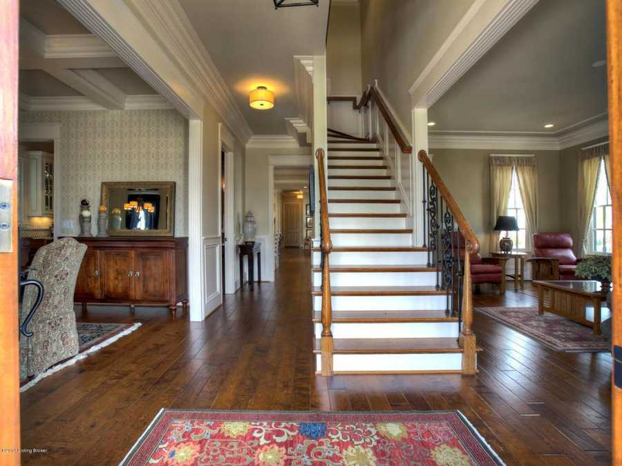 This view of the foyer shows the home's open layout.