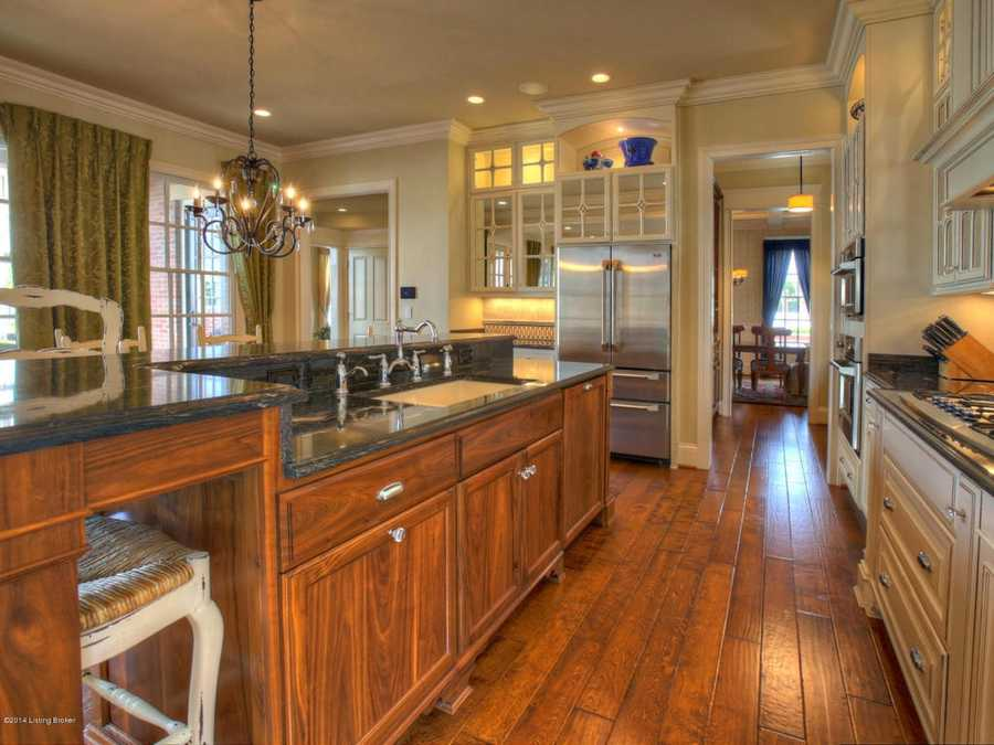 Close-up view of the exceptional cabinetry.