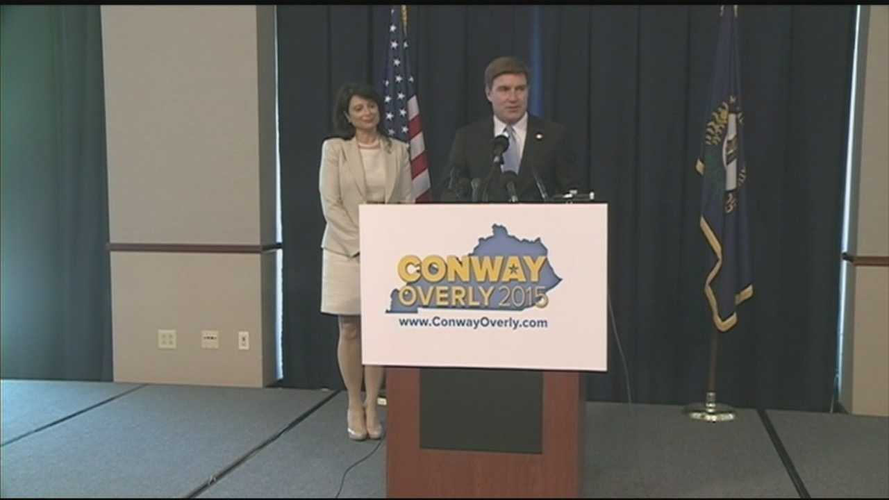 Attorney General Jack Conway announced he will run for governor on Tuesday. His running mate will be Rep. Sannie Overly, of Bourbon County.