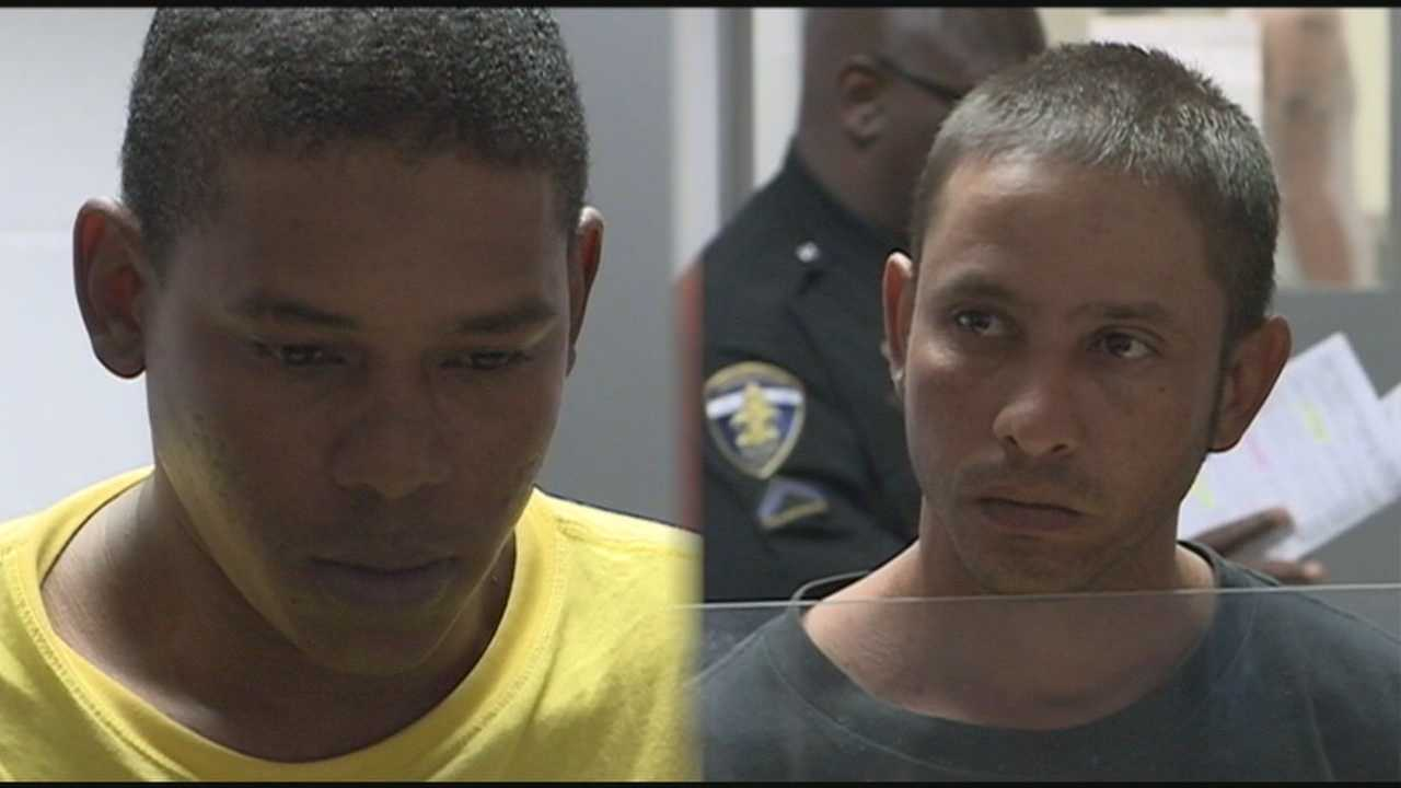 Two men face charges after police said they tied up a third man with ropes and duct tape.
