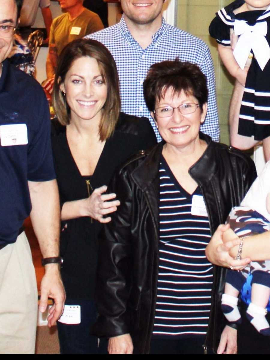 Anchor Christina Mora and her mom.